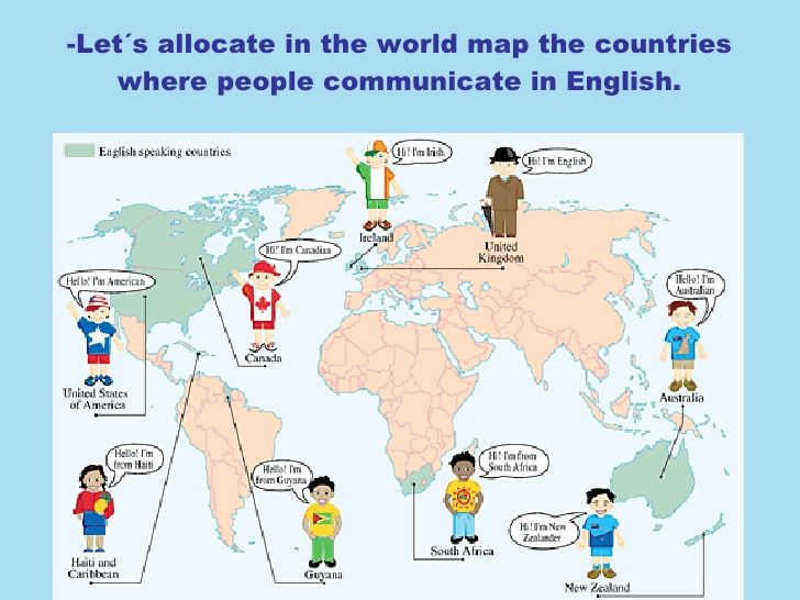 8 best english speaking countries images on pinterest countries lets allocate in the world map the countries where people communicate in english gumiabroncs Images