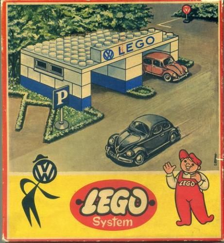 Vintage Lego VW Dealership.