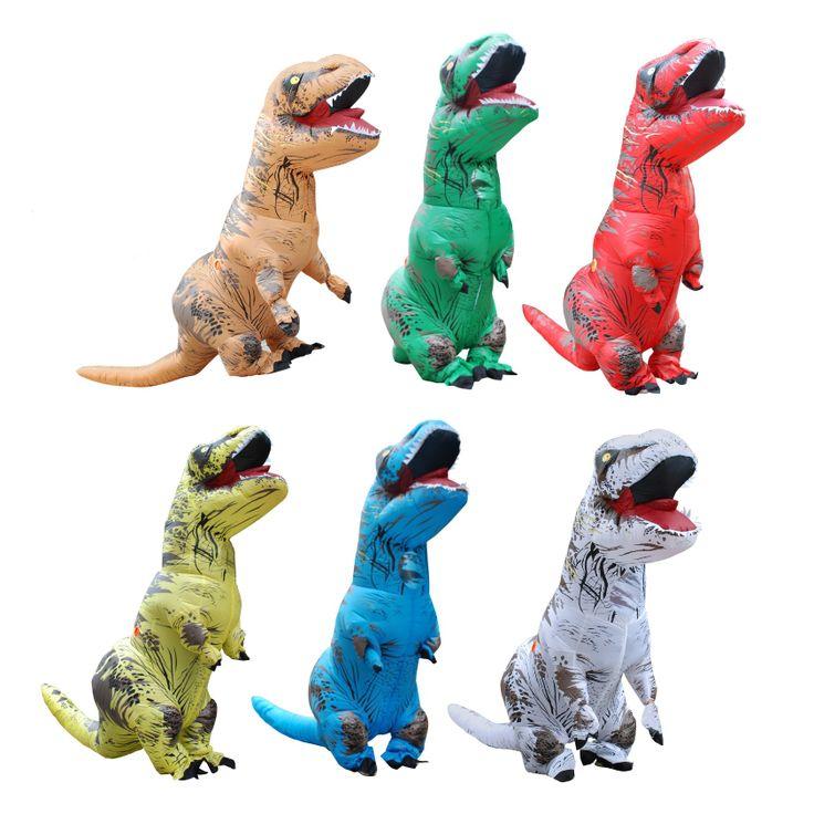 Adult T-REX Inflatable Costume Christmas Cosplay Dinosaur Animal Fantasias Jumpsuit Dragon Suit Halloween Costume for Women Men  #Affiliate