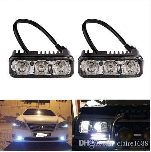 2pcs Waterproof LED DRL Daytime Running Lights Car Headlight High Power Warning Driving Fog Lamp Auto Lighting with Lens DC12V - $56.99