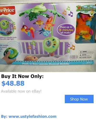 Crib Toys: Baby Crib Toy Fisher Price Rainforest Peek-A-Boo Leaves Musical Mobile W/Remote BUY IT NOW ONLY: $48.88 #ustylefashionCribToys OR #ustylefashion