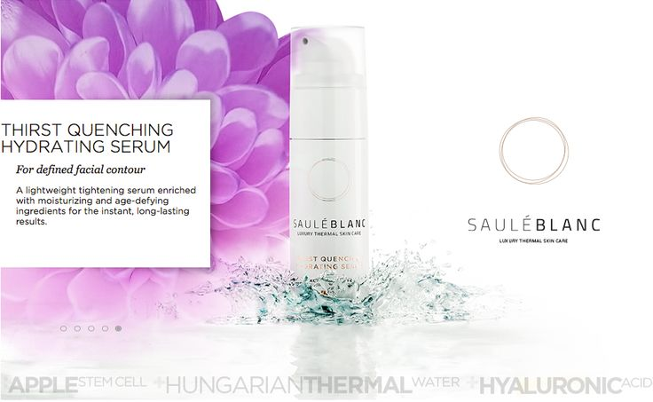 SB Thirst Quenching Hydrating Serum+HYALURONIC ACID. For defined facial contour. SHOP ONLINE: https://sauleblanc.com/thirst-quenching-hydrating-serum