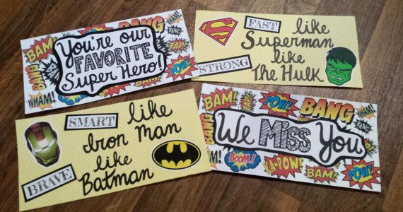 Care Package Decorating Kit Superheroes by OneDayCloserDesign