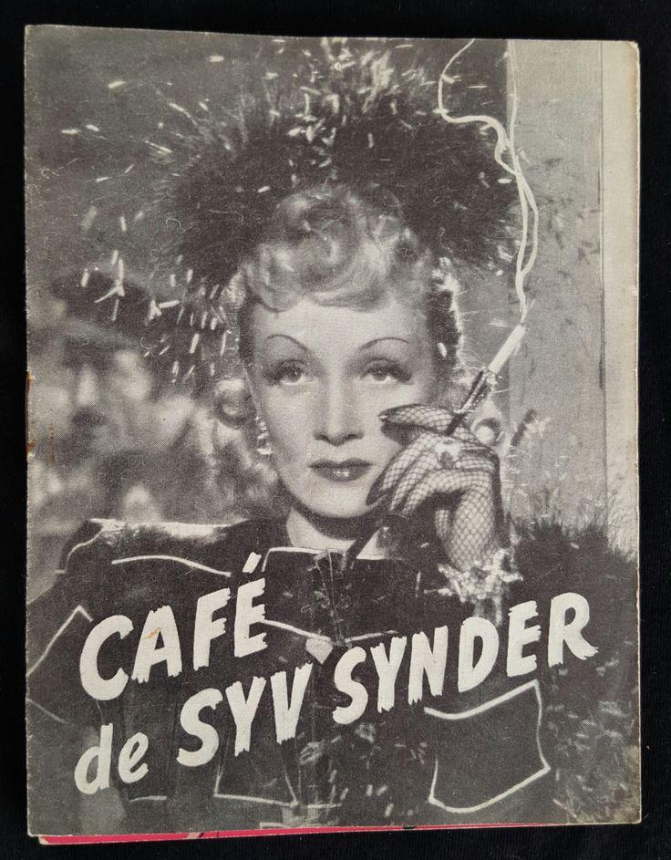 Original 1940 Seven Sinners Danish Movie Poster Program Herald Marlene Dietrich John Wayne
