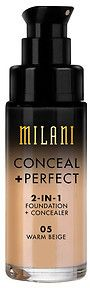 Dupe for Clinique Beyond Perfecting Foundation + Concealer: Milani Conceal + Perfect 2-in-1 Foundation + Concealer, Warm Beige. @ acheekylifestyle.com by Val Banderman