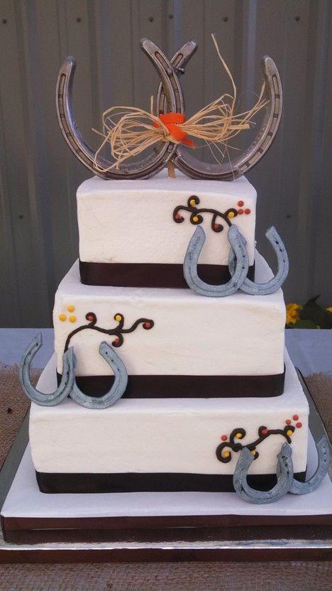 Fall Western Wedding Cake