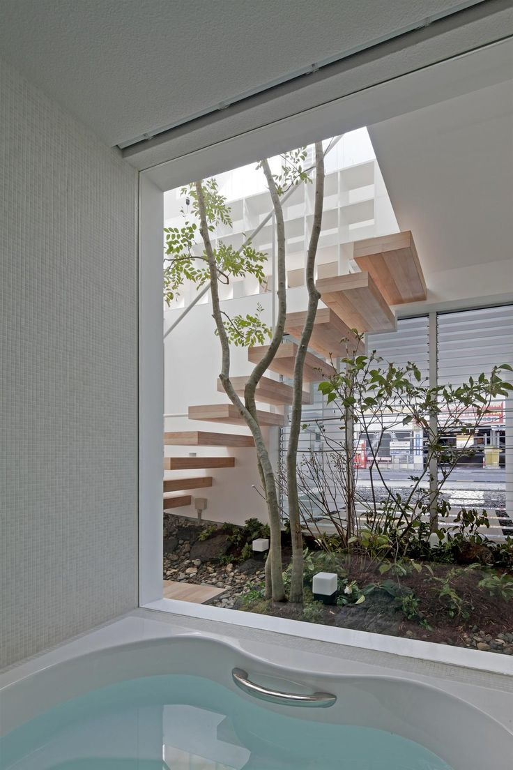 love the inside outside stairs... and floating #stairporn Machi House | UID Architects