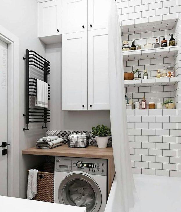 20 Minimalist Laundry Room Ideas For Small Space Bathroom Interior Design Laundry Room Bathroom Small Bathroom