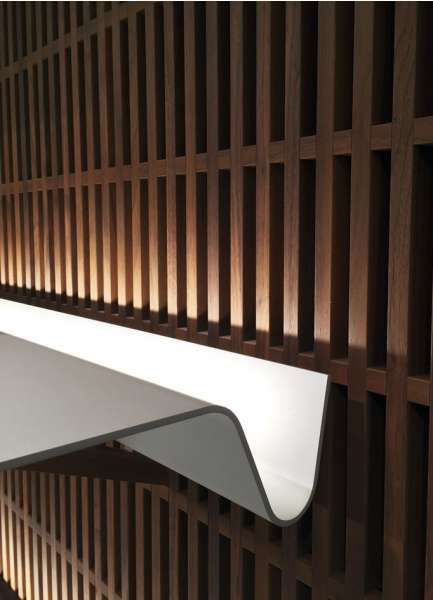 illuminated shelf in Bally London by ViaBizzuno- design David Chipperfield Architects