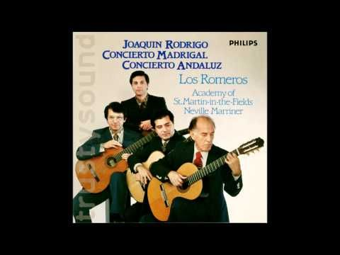 ▶ Joaquin Rodrigo Concierto Andaluz for Four Guitars and Orchestra, Complete, 1978 - YouTube