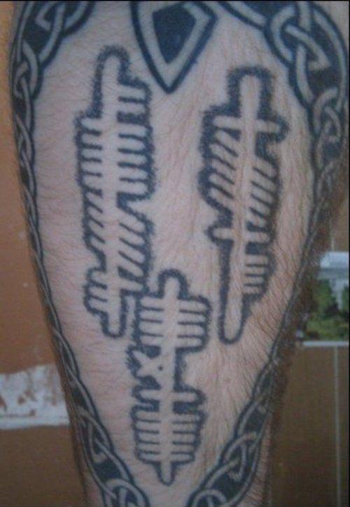 Ogham tattoos