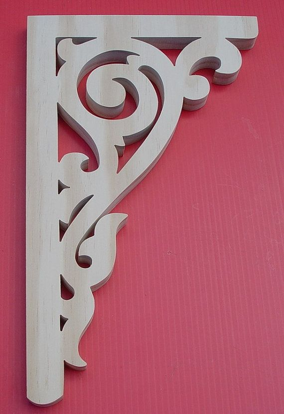 Victorian Gingerbread Wood Brackets / Shelf by DavidWolfer on Etsy, $12.50