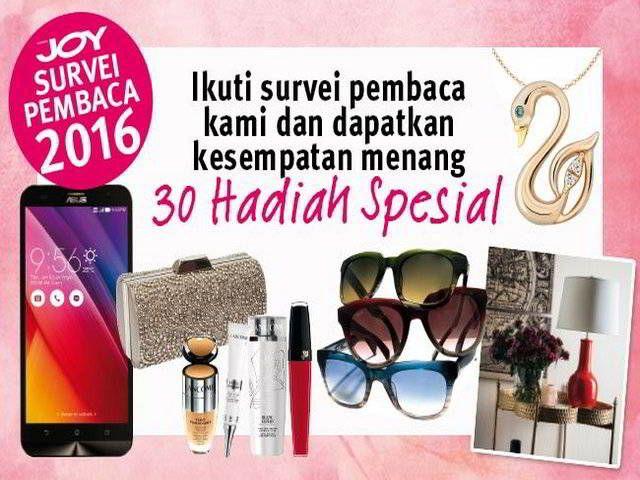 Survey Pembaca JOY Indonesia 2016 Berhadiah Menarik - Hai sobat MisterKuis. Kali ini ada info situs survey berhadiah menarik nih dari JOY Indonesia