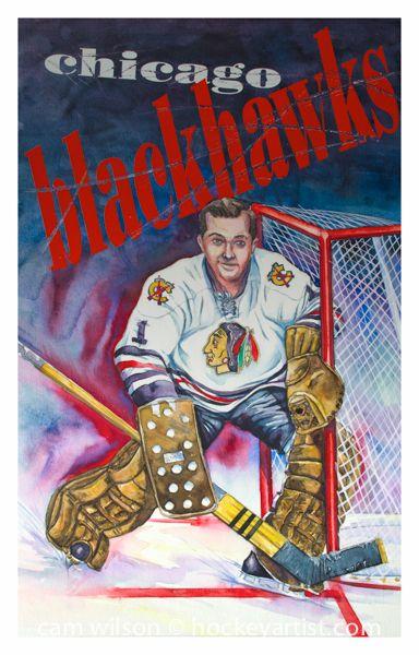 Hockey History Illustrated - Glenn Hall A visual history of hockey by artist Cam Wilson http://www.camwilson.ca