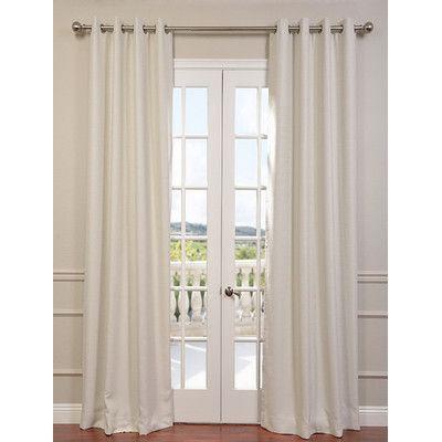 "Half Price Drapes Bellino Grommet Blackout Thermal Single Curtain Panel Size: 50"" W x 84"" L, Color: Cottage White"