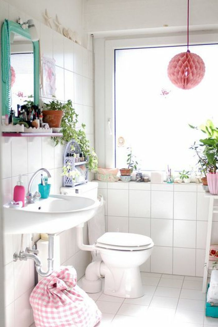 amenager petite salle de bain de style cocooning