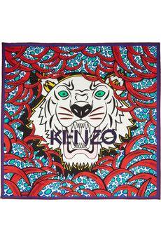 KENZO Foulard en soie à imprimé tigre | NET-A-PORTER