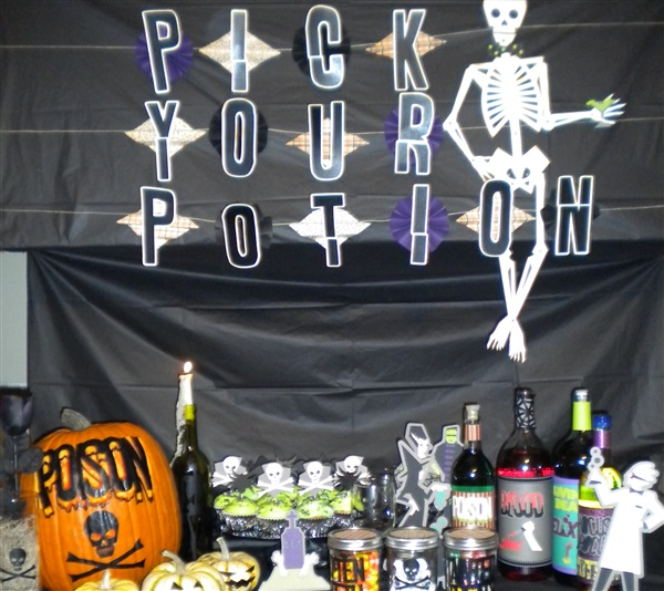 pick your potion party decor this would be a great sign for over the