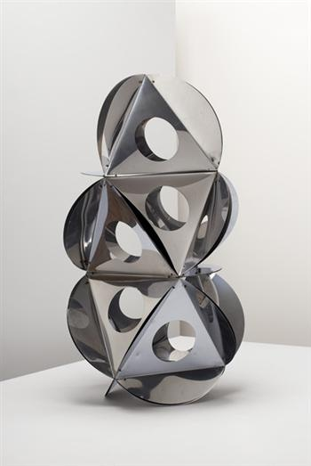BRUNO MUNARI / Sculpture / 1965 /   Chrome-plated metal