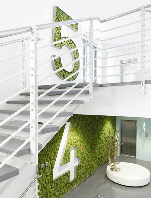 The interior of the building KKCG office spaces2 |walls instead of numbers we can use the logo