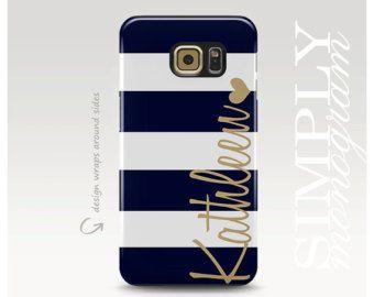 Floral Samsung Galaxy S6 Case Galaxy S5 Case by simplymonogram