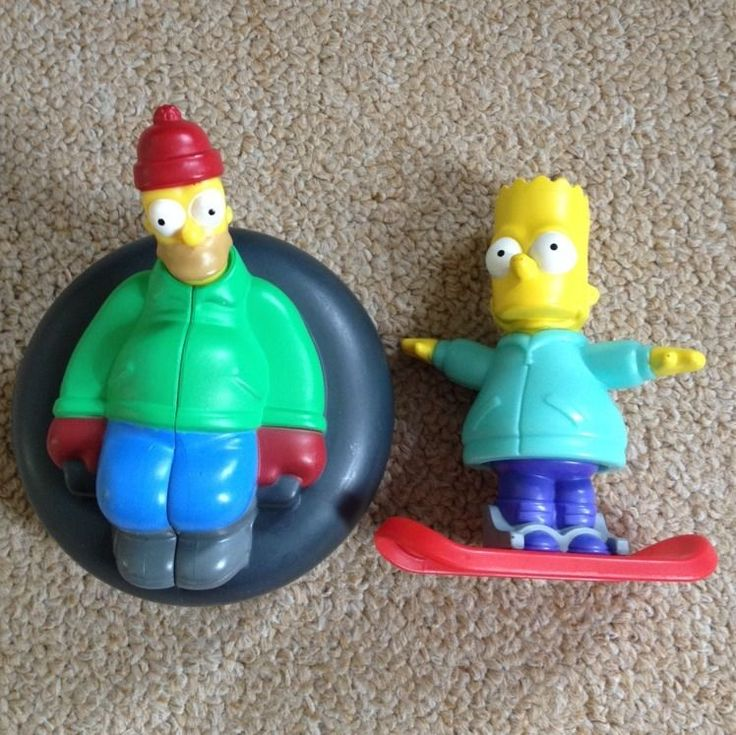2013 Simpsons Burger King Toys Homer and Bart Simpson