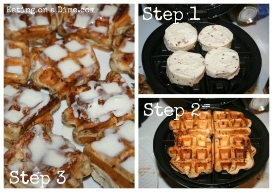Place cinnamon rolls in the waffle maker for Christmas morning.