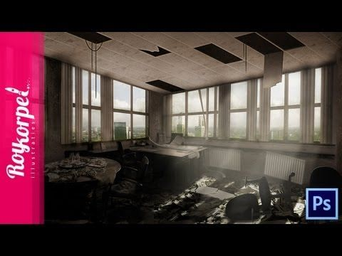 Abandoned Office in Rotterdam | Photoshop CS6 how to - time lapse video