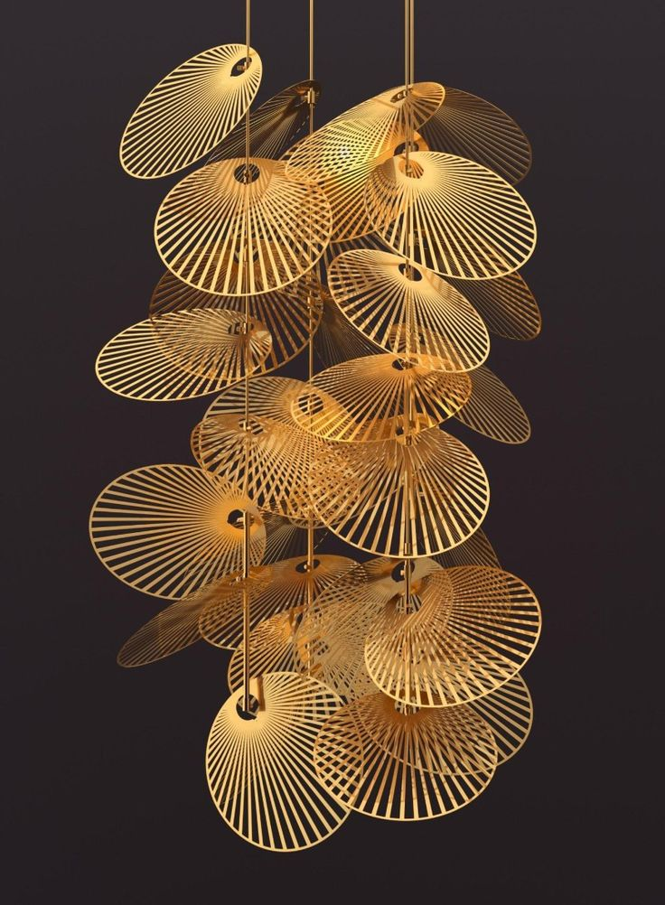 """""""Leaf"""" by Luum - anodised aluminum discs can be tilted and arranged so illumination mimics light shining through a canopy of leaves"""