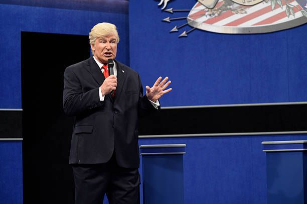 LIVE 'Emily Blunt' Episode 1707 Pictured Alec Baldwin as Republican Presidential Candidate Donald Trump during the 'Debate Cold Open' sketch on...