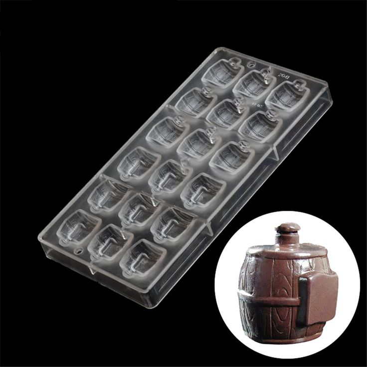 3D beer barrel shaped polycarbonate chocolate mold,creative baking pastry tools food grade plastic chocolate moulds #Affiliate