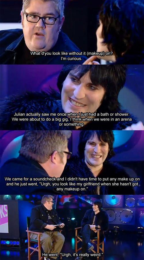 Noel on Julian on Noel without makeup