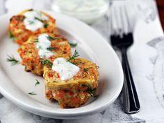 salmon and quinoa patties with lemon-yogurt sauce from The Perfect Pantry