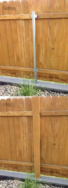 Got Ugly Metal Fence Posts? Check out this Easy DIY Garden Project Cure!