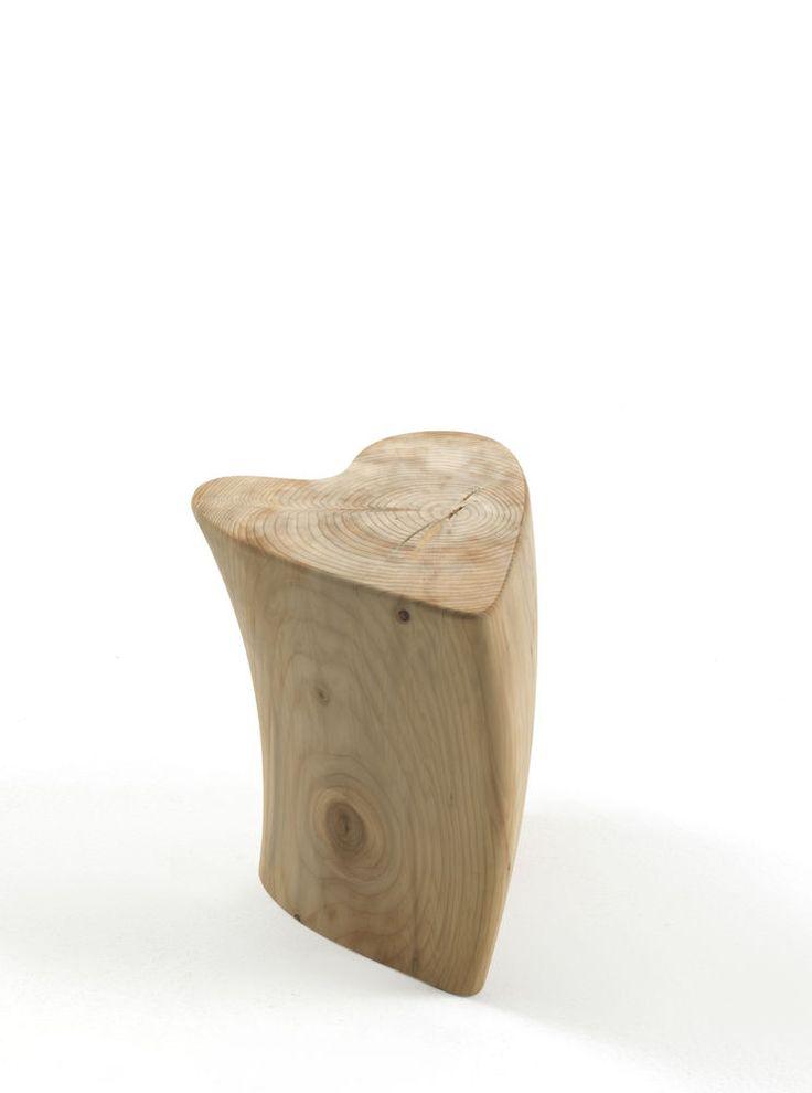 Cedarwood stool ONE LOVE by @riva1920 1920 | #design Veneziano+Team  #GianniVeneziano #LucianaDiVirgilio #VenezianoTeam #OneLove #project #newprojects #Riva1920 #stool #heart #core #design #art #industrialdesign #furniture #interior #home