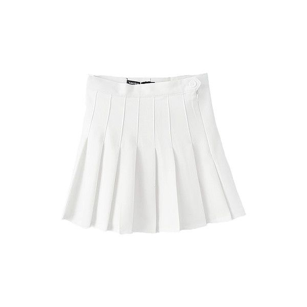 American Apparel White Pleated Tennis Skirt ($18) ❤ liked on Polyvore featuring skirts, bottoms, tennis and american apparel