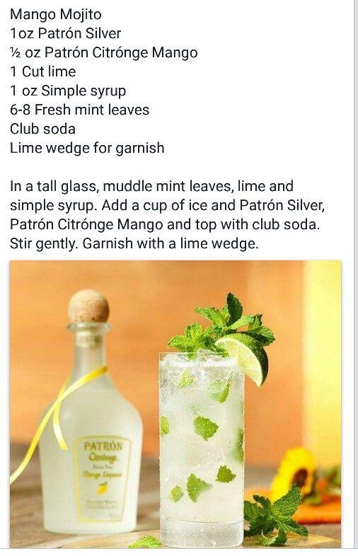 Mango Mojito made with Patron Silver & Citronge Mango