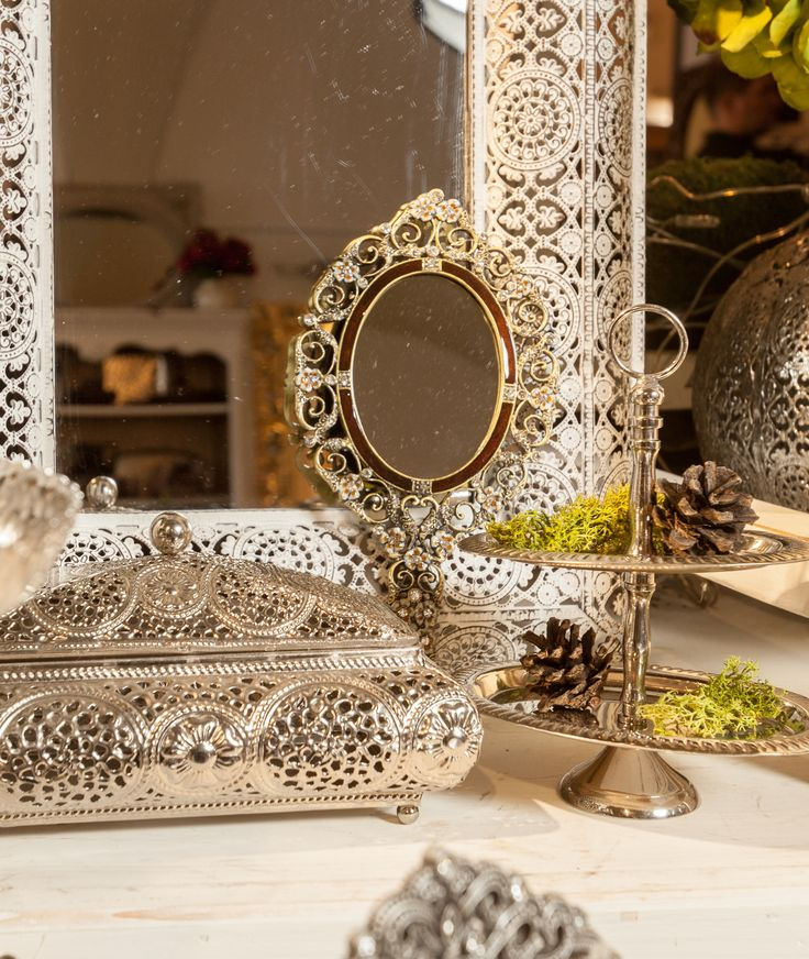 Silver Mirrors, Silver Frames and Jewelry Boxes - Available NOW @ Chic Ville