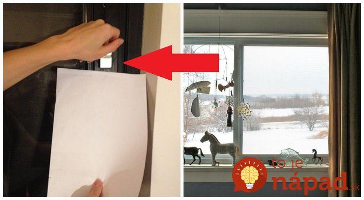 Potrebujete len hárok papiera: Jednoduchý trik, ktorý by mal poznať každý, kto má doma plastové okná a chce ušetriť za energie!