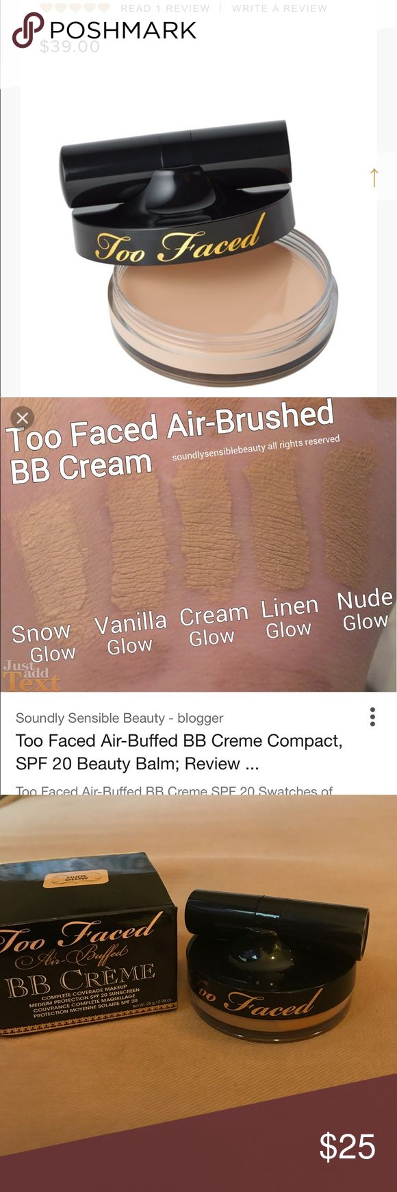 Too Faced Air Buffed BB Creme Swatched... unfortunately not dark enough for me! Too Faced Makeup Foundation