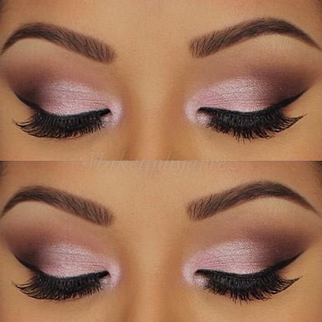 beautiful pink makeup look from makeupbyarrez using motivescosmetics eyeshadows. Heiress, pink diamond, vino, chocolight, cappuccino, and vanilla