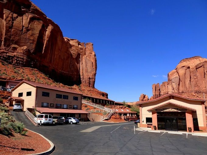 米国モニュメントバレー「ゴールディングスロッジ」にて。Goulding's Lodge in Monument Valley, USA.