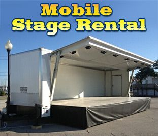 Mobile Stage Rental Information - Available to rent for your party or event for all of Galveston County, Kemah, League City, Seabrook, Webster, and South Houston!