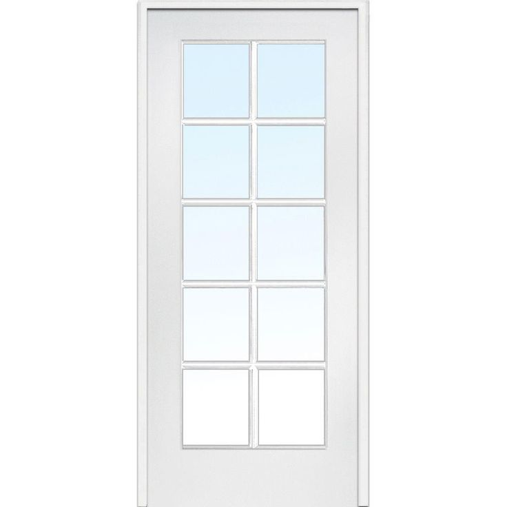 Classic Clear Glass 10 Lite Interior French Door