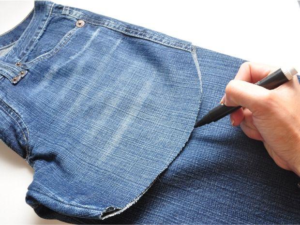 transformar calça velha em short