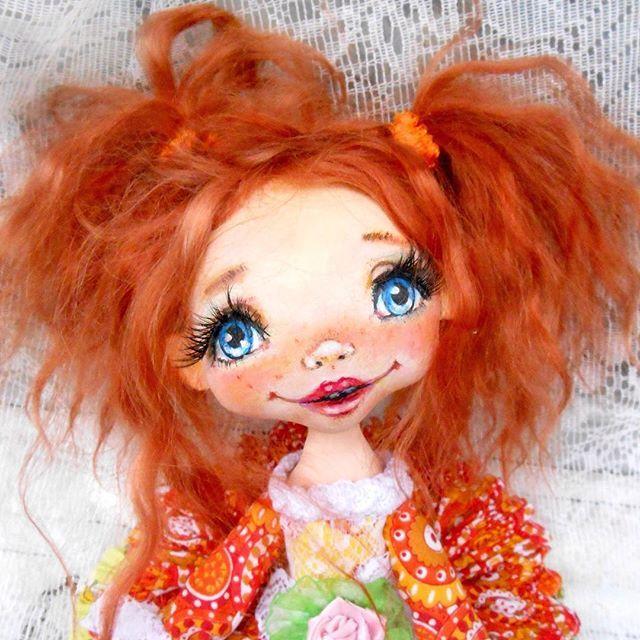 Куколки с волосами из козьего пуха автор Татьяна Лукьянова