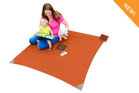 Monkey Mat. This is great to keep in the stroller. Very small & lightweight. The sides could be weighted down more and it's not great if the ground is damp (I put a garbage bag under if needed). Otherwise, I totally recommend it! Much better than bulkier options.