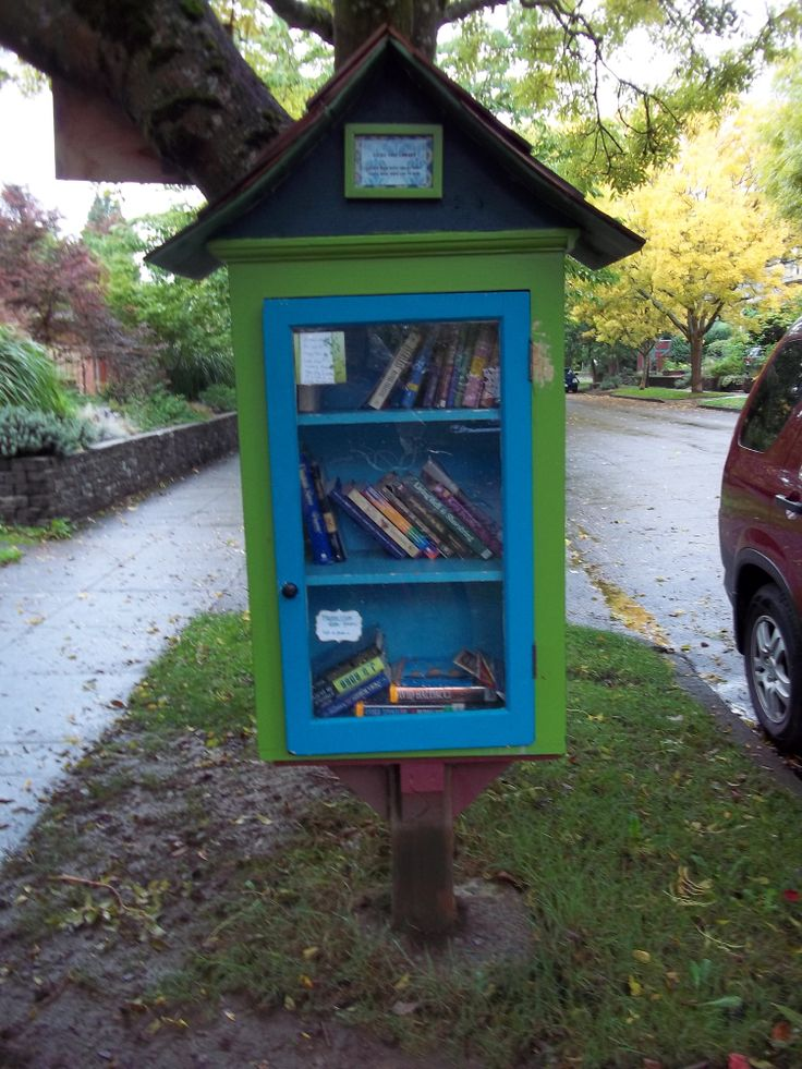 Little Free Libraries - Portland and Salem, Oregon.  Pick up a book - leave a book.