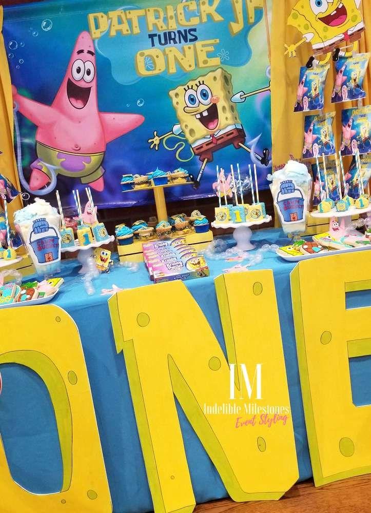 Patricks Spongebob Theme 1st Birthday