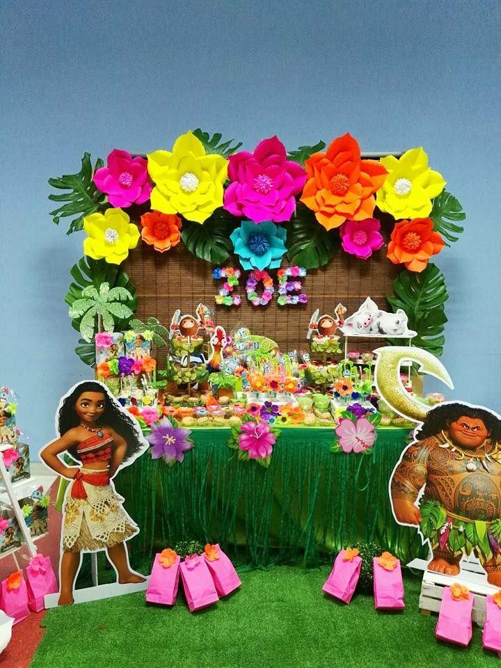Moana table main table set up